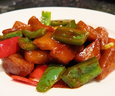 Sweet and sour gluten with pineapple at Summer Palace.