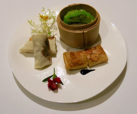 A selection of delicious vegan dim sum to start our meal at Shang Palace.