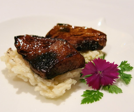One of the starts of the show - Pan-fried wild mushroom with crispy rice in supreme soy sauce at Shang Palace.