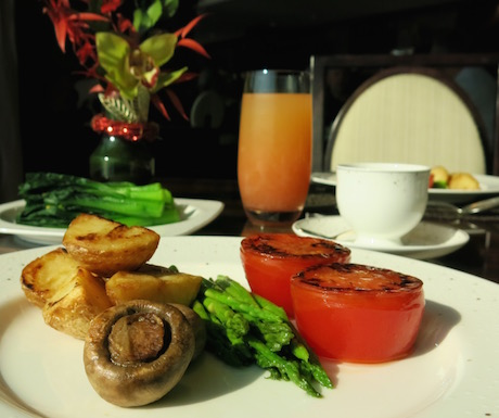 vegan cooked breakfast at Kowloon Shangri-la