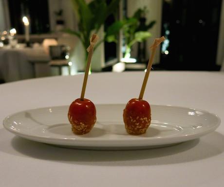 Amuse bouche at La Maison 1888 - even the humble tomato tasted divine.