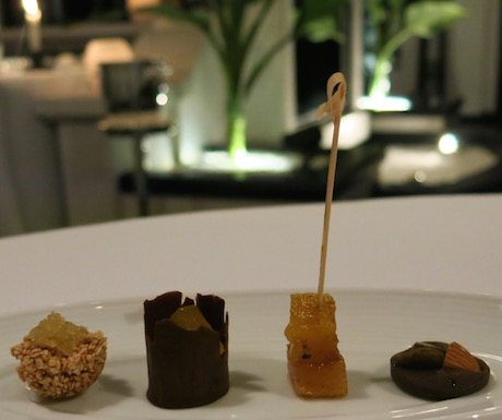 Vegan petits fours to complete our meal at La Maison 1888.