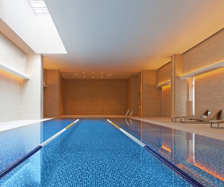 Indoor pool for relaxing (or keeping fit).
