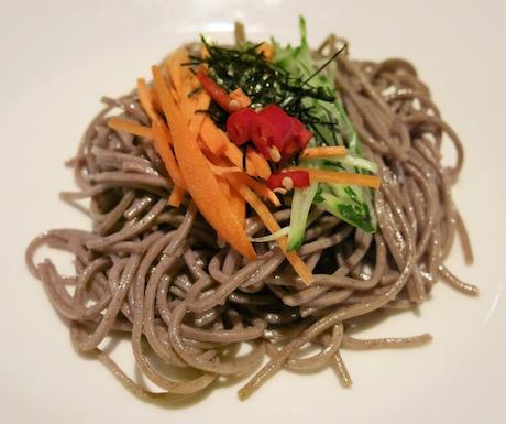 vegan soba noodles at Le Meridien Taipei