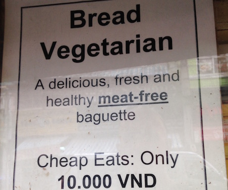 Delicious, fresh and healthy meat free baguette in Nha Trang