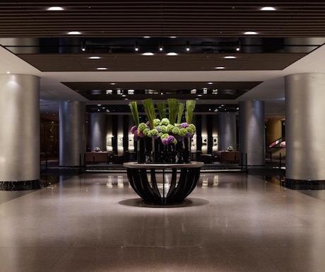 Grand lobby at the Regent Taipei.