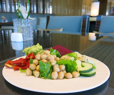 vegan salad with chick peas at Ritz Carlton Hong Kong