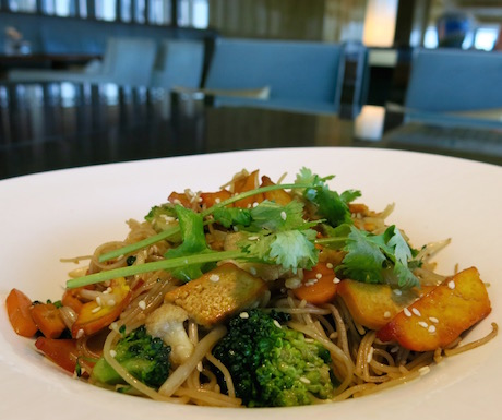vegan fried noodles at Ritz Carlton Hong Kong