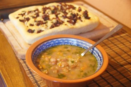 Vegan Italian Food - Minestra 'orzo e fasoi' fromFriuli-Venezia Giulia