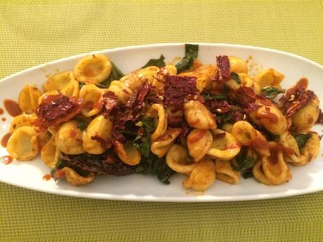 Vegan Italian Food - Orecchiette con cime di rapa from Basilicata