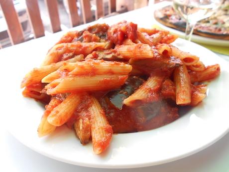 Vegan Italian Food - Pasta alla Norma from Sicilia (Sicily)