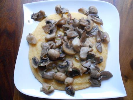Vegan Italian Food - Polenta con funghi from Trentino-Alto Adige