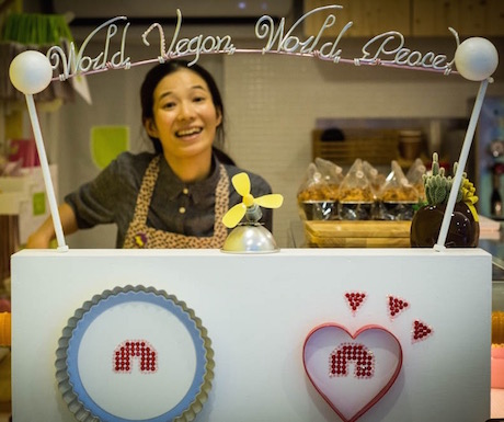 Li Ting, creator of magic at Vegan Heaven. (Photo courtesy of Stephie Lin)