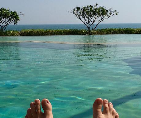 Chillin' by the pool at Evason Hua Hin...
