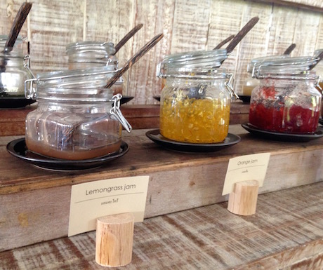 Exotic selection of freshly made jams at Evason Hua Hin.