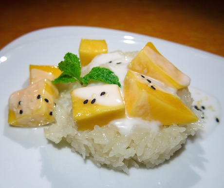 mango sticky rice at Evason Hua Hin