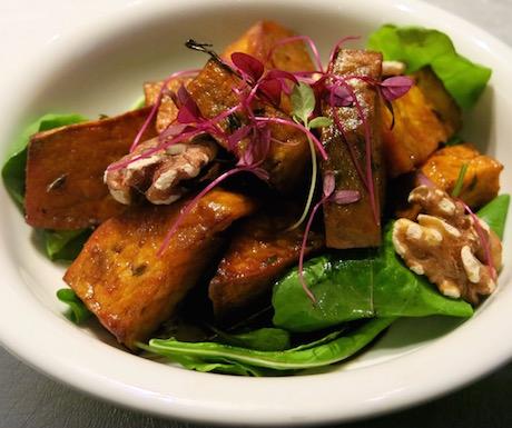 Sweet potato and walnut salad in Club Signature at Sofitel So Bangkok
