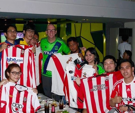 Meeting with some of the Thailand Southampton FC Fan Club.