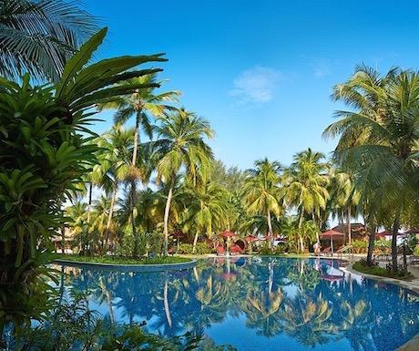 Malaysia, Penang, Batu Ferringhi, pool, resort