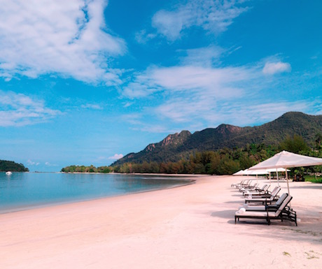 Private beach at The Danna Langkawi