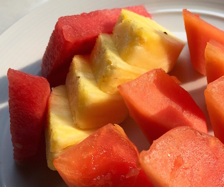 Fresh fruit every morning at The Penaga
