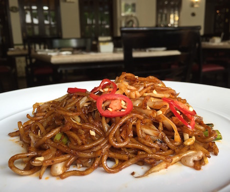 Breakfast at The Penaga: freshly stir-fried, tasty and always served with a smile.