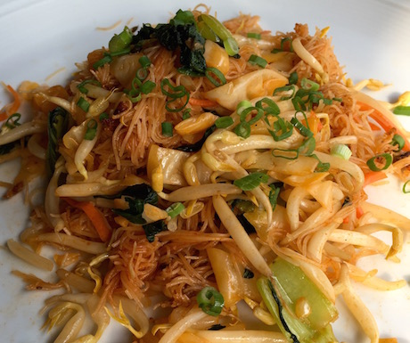 Vegan noodles at Hotel Penaga
