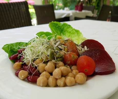 selection of salad and chick peas from PARK ROYAL Resort Penang