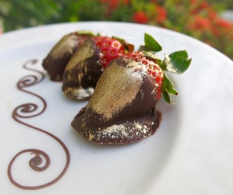 Dark chocolate dipped strawberries at PARK ROYAL Penang Resort
