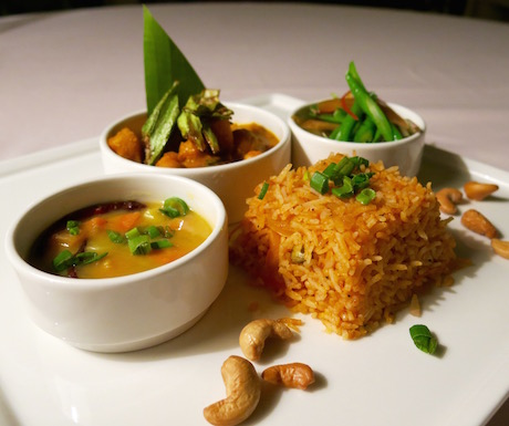 selection of vegan curries at The Danna Langkawi