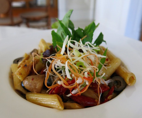 vegan pasta for lunch at The Danna Langkawi