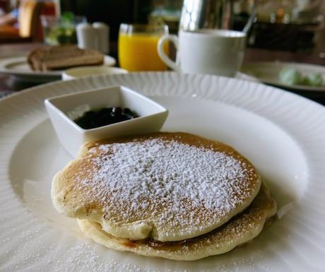 Vegan pancakes for breakfast at The Danna Langkawi.
