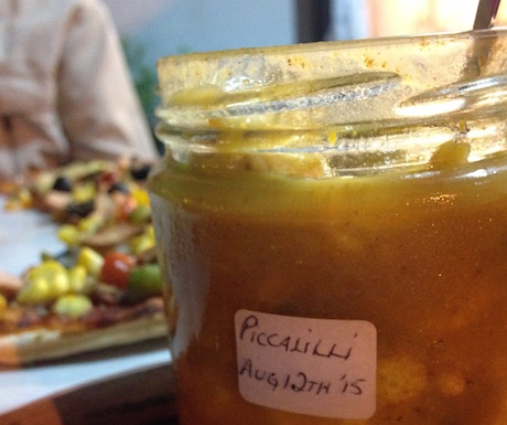 There was even homemade piccalilli on offer!