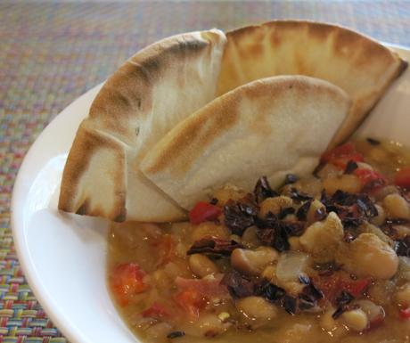 vegan Arabic food called foul moudamas at Four Seasons Resort Langkawi