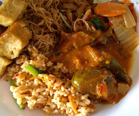 vegan food at Langkawi Vegetarian Restaurant in Kuah Town
