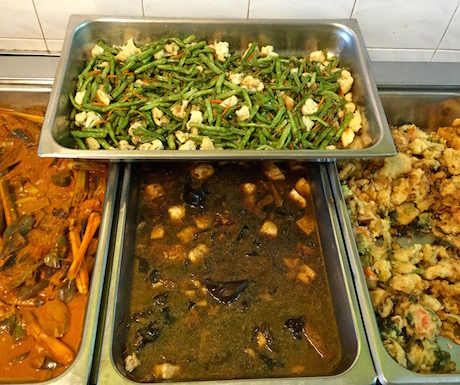 vegan buffet at Langkawi Vegetarian Restaurant in Kuah Town
