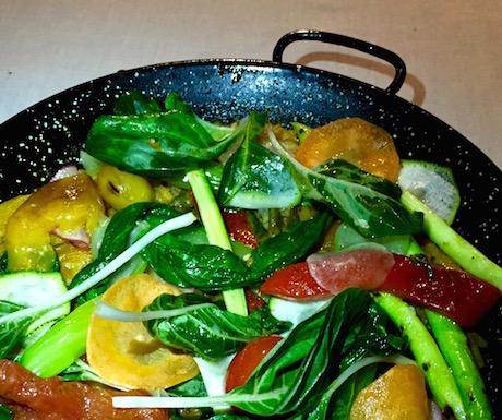 vegan paella at Phum Baitang