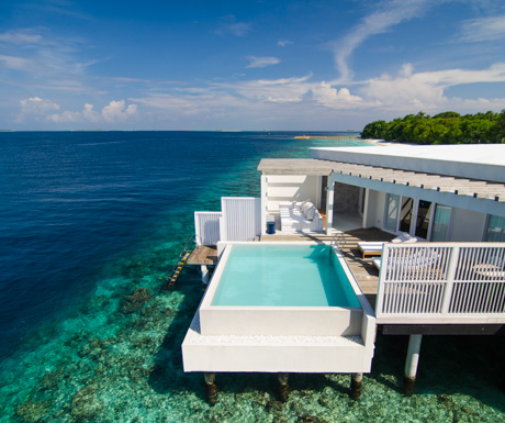 Ocean Reef House in paradise at Amilla Fushi