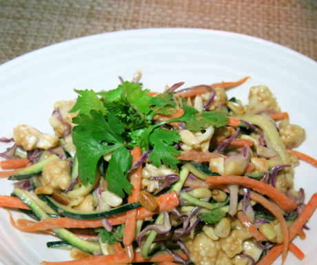 Creamy, spicy 'Raw Pad Thai'.