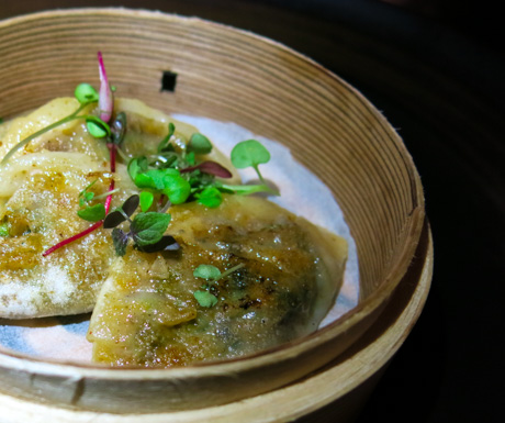 We really loved the freshly made vegan gyoza dumplings at 'Feeling Koi'.