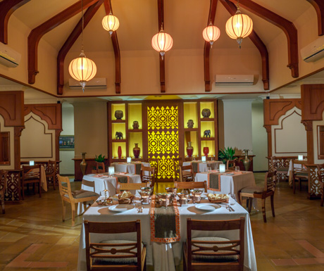 Indian restaurant, Mahal at Kurumba Maldives.
