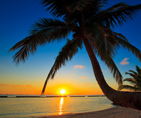 Perfect sunset at Kurumba Maldives.