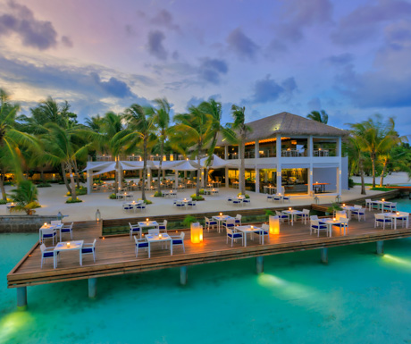 The beautifully located Thila at Kurumba Maldives was our favourite dining location.