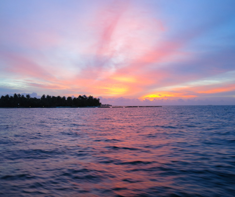 Sunset over Kurumba Maldives.