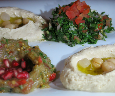 Delicious mezze plate at Al Qasr.