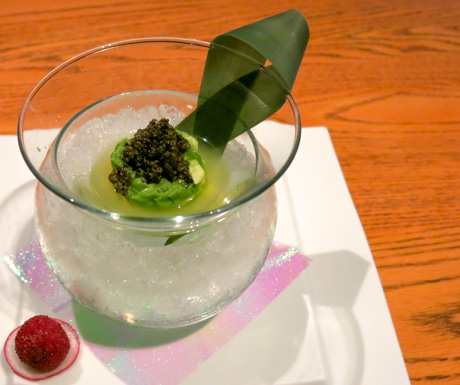 Avocado Tartar with Vegetarian Caviar at NOBU