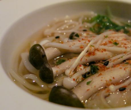 Seasonal Mushroom Udon at NOBU InterContinental Hong Kong.