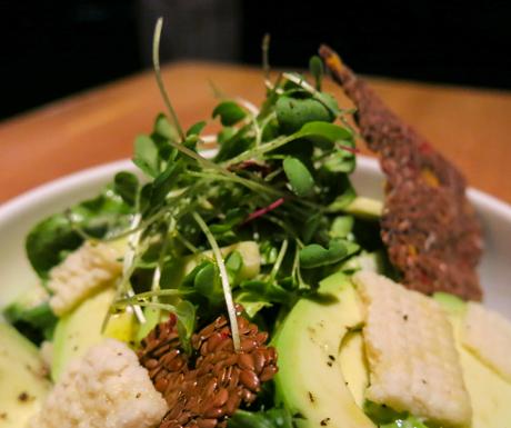 Raw Caesar Salad from the Wellness Menu at Six Senses Laamu