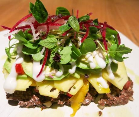 vegan delights from the Wellness Menu at Six Senses Laamu