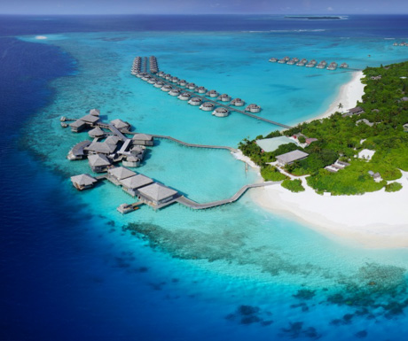 Six Senses Laamu from above